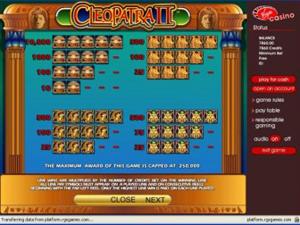 Cleopatra II Payouts