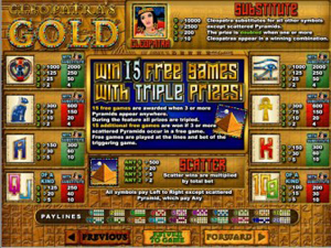 Cleopatra's Gold Payouts